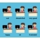 Businesswoman working emotions set - GraphicRiver Item for Sale