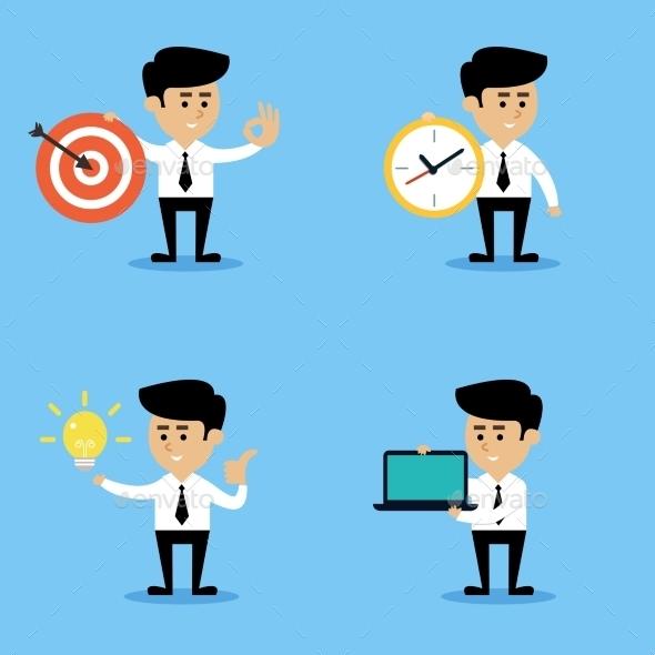 GraphicRiver Businessman concepts set 9229078