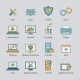Computer repair flat line icons set - GraphicRiver Item for Sale