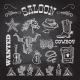 Cowboy chalkboard set - GraphicRiver Item for Sale