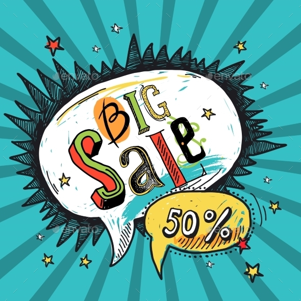 GraphicRiver Sale speech bubble 9229328