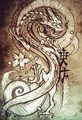 Tattoo art, sketch of a japanese dragon - PhotoDune Item for Sale