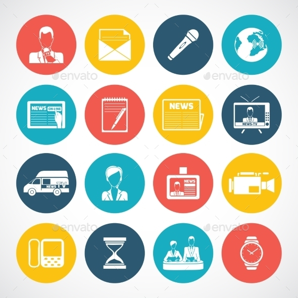 GraphicRiver News icons set 9229476