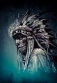 Native american indian head, chief, vintage style - PhotoDune Item for Sale