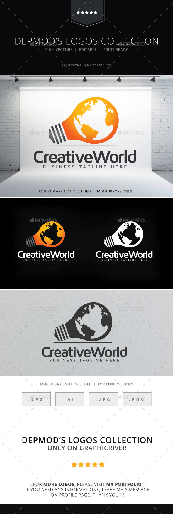 GraphicRiver Creative World Logo 9229529