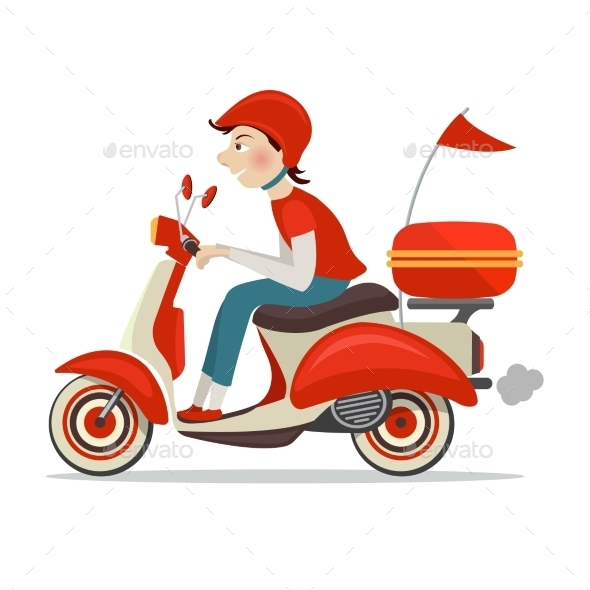 GraphicRiver Scooter delivery icon 9229738