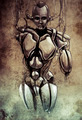Sketch of tattoo art, android, robot, fantasy illustration - PhotoDune Item for Sale