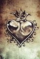 Heart, Tattoo sketch, handmade design over vintage paper - PhotoDune Item for Sale