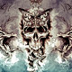 Death Tattoo design over grey background. textured backdrop. Art - PhotoDune Item for Sale