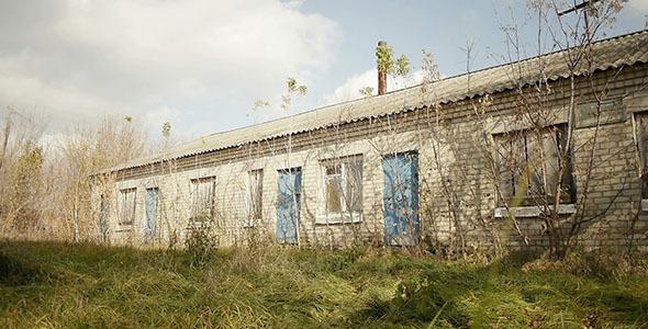 Abandoned Village Brick Building 2