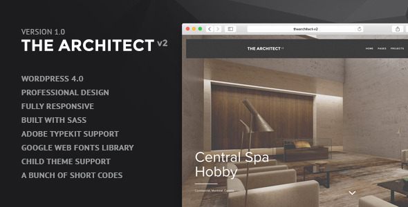 ThemeForest The Architect v2 WordPress Theme for Architects 9229818