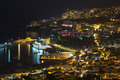 Aearial view at night of Funchal, capital city of Madeira Island, Portugal - PhotoDune Item for Sale