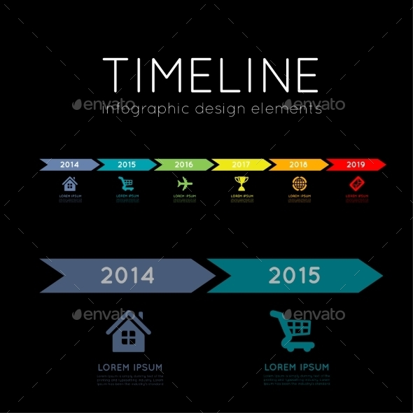 GraphicRiver Timeline Infographic 9229885
