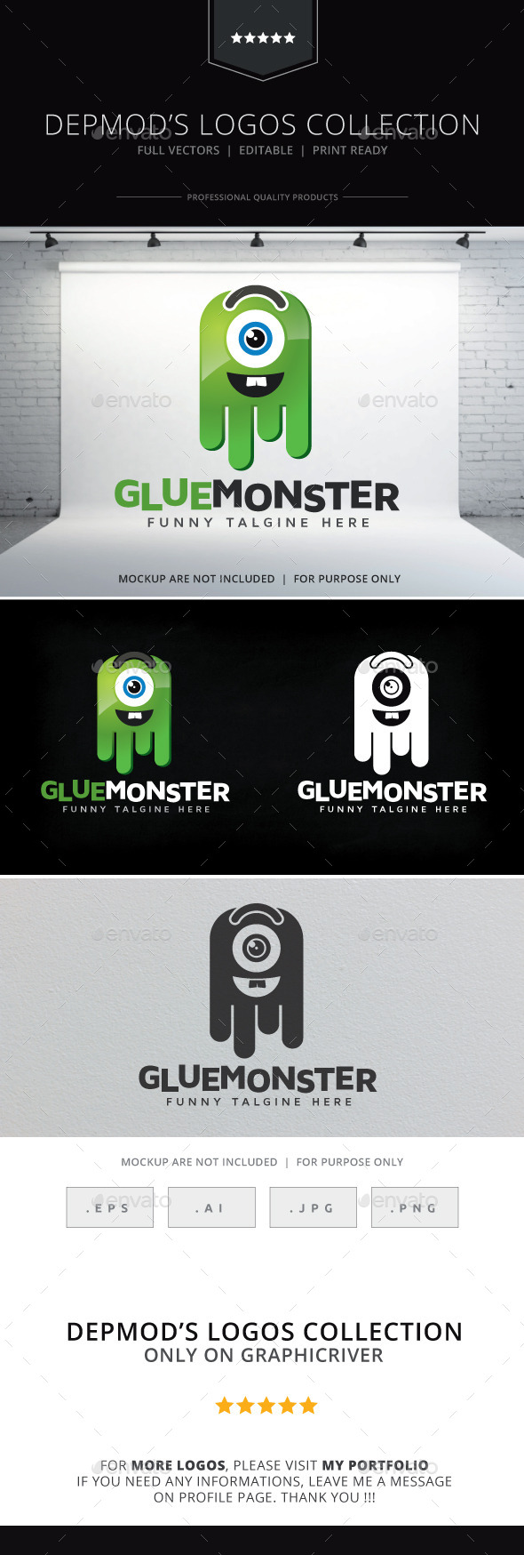 GraphicRiver Glue Monster Logo 9229890