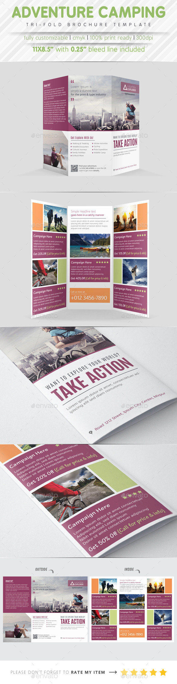 GraphicRiver Adventure Camping Tri Fold Brochure 9229940