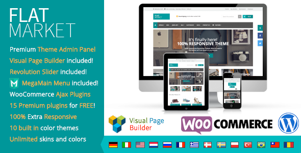 ThemeForest FlatMarket Premium WordPress WooCommerce theme 9185162