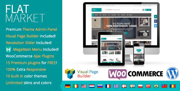 FlatMarket - Premium WordPress WooCommerce theme