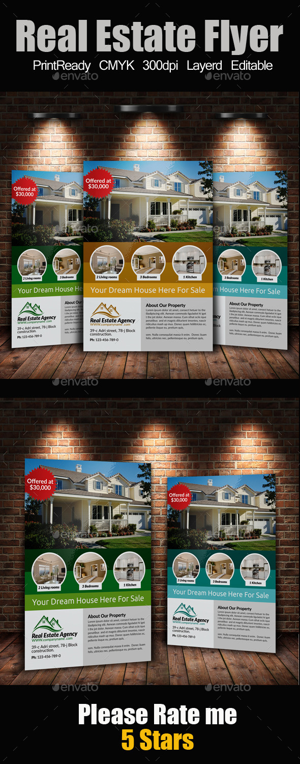 GraphicRiver A4 Real Estate Flyer 9230203