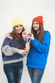 Two young  hipster girl friends - PhotoDune Item for Sale