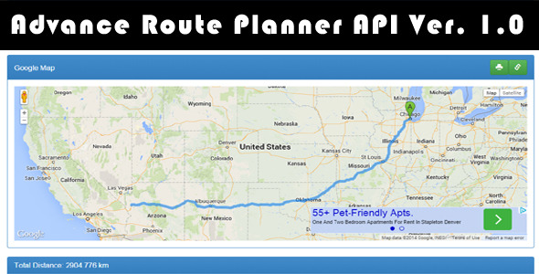 CodeCanyon Advance Route Planner API Ver 1.0 9197413