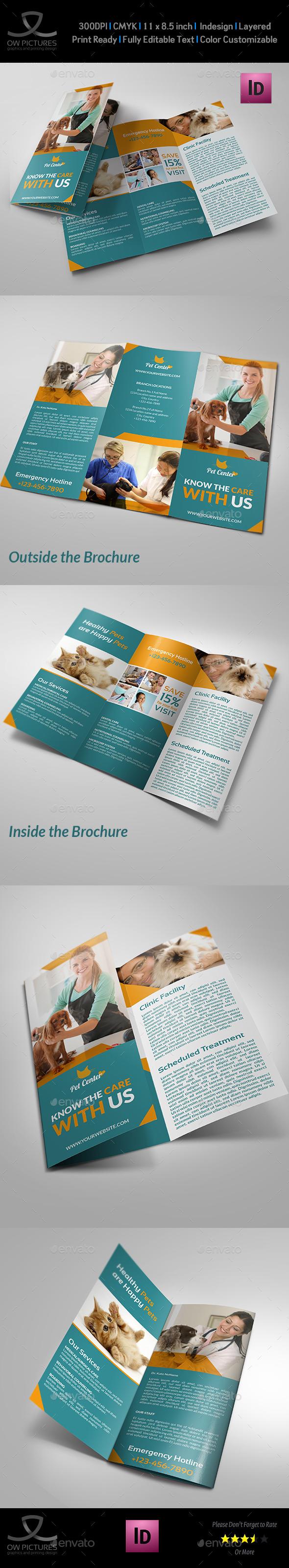 GraphicRiver Veterinarian Clinic Tri-Fold Brochure Vol 3 9230554