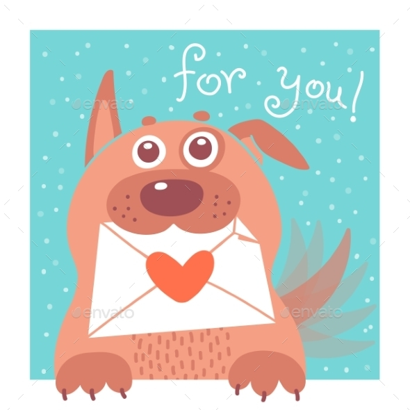GraphicRiver Dog with Envelope 9230663