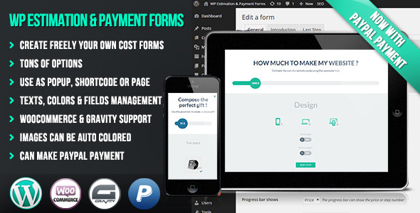 PRESENTATION Create easily your own flat and responsive cost estimation popup form on your wordpress website . This can be used to sell any type of service or p
