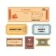 Retro Tickets Set - GraphicRiver Item for Sale