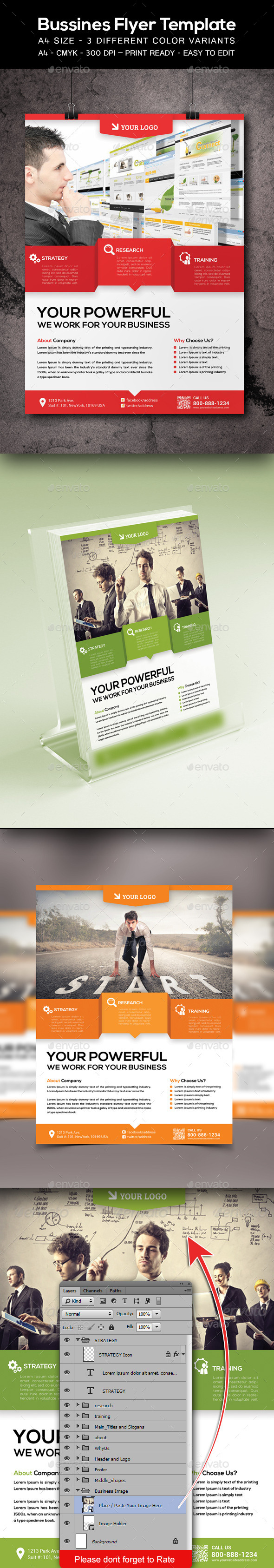 GraphicRiver Corporate Business Flyer Template 9231126