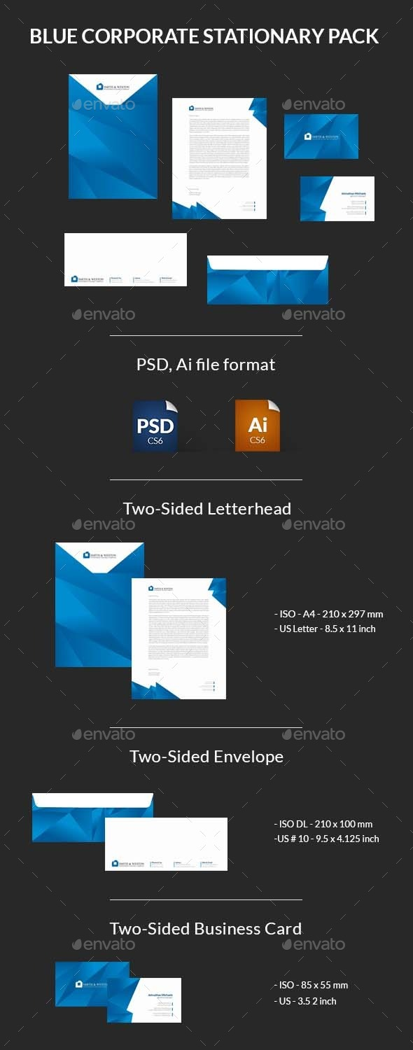 GraphicRiver Blue Corporate Stationary Pack 9231209