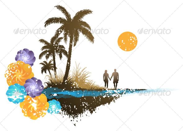 GraphicRiver Palm Tree Paradise 118832