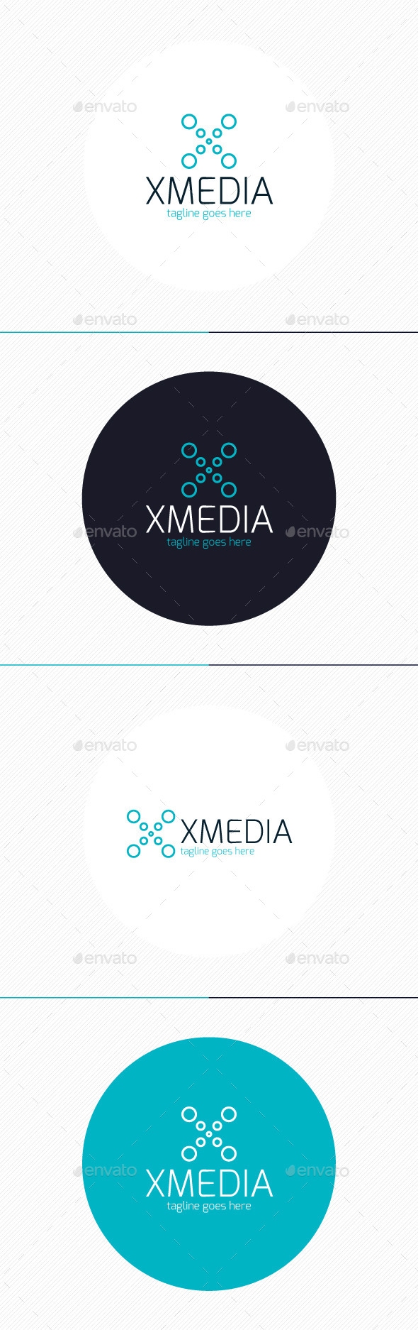 GraphicRiver X Media Logo Letter X 9231236