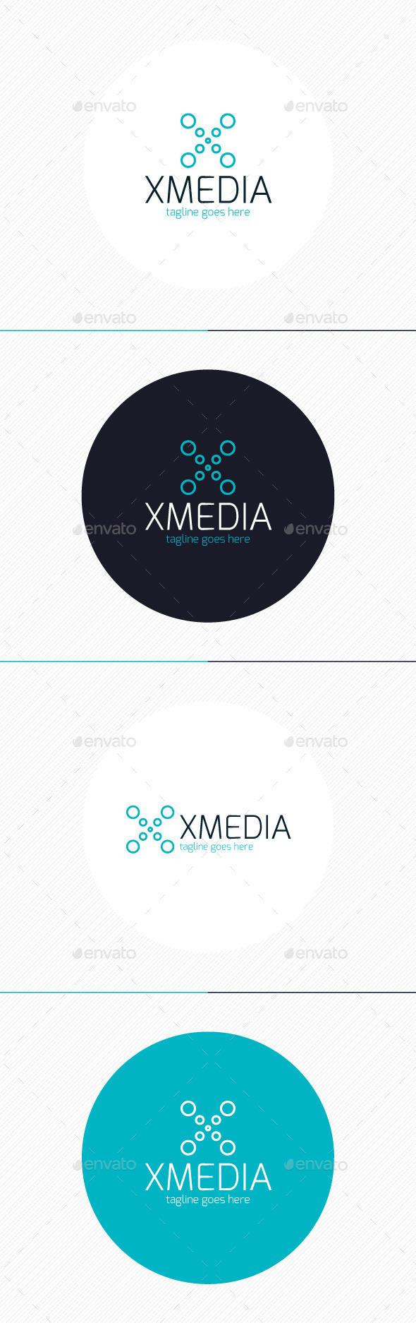 GraphicRiver X Media Logo Letter X 9231236