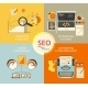 Infographic Flat Concept Illustration of SEO - GraphicRiver Item for Sale