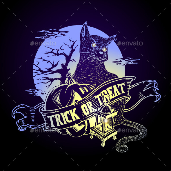 GraphicRiver Halloween Night Background 9231247