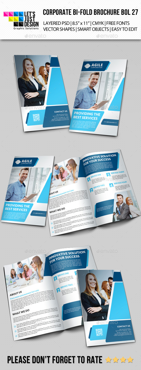 Creative Corporate Bi-Fold Brochure Vol 27