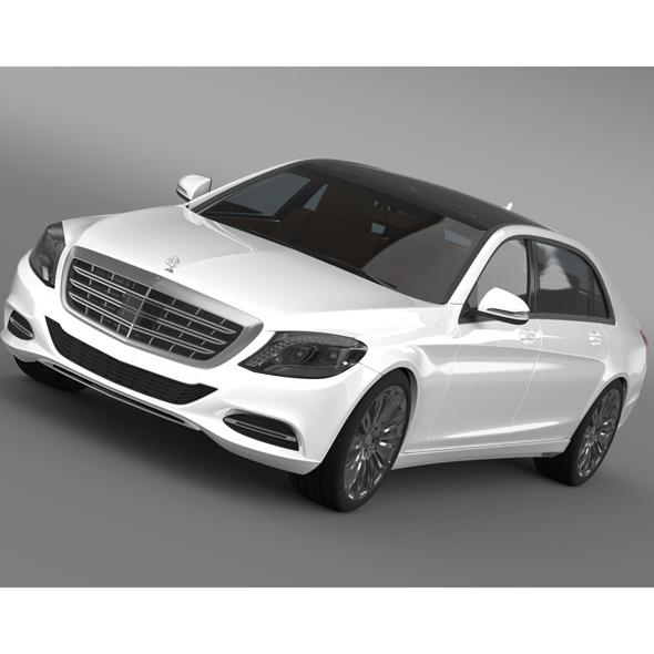 3DOcean Maybach Mercedes Benz S 600 LWB 2016 9231470