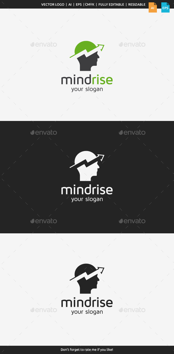 GraphicRiver Mind Rise Logo 9231603