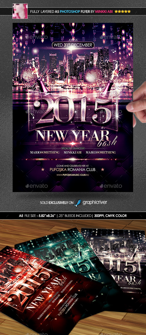 GraphicRiver New Year Bash Poster Flyer 9231887