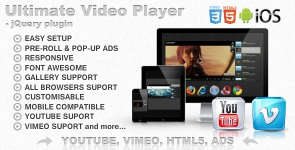 Ultimate Video Player with YouTube,Vimeo,HTML5,Ads - CodeCanyon Item for Sale