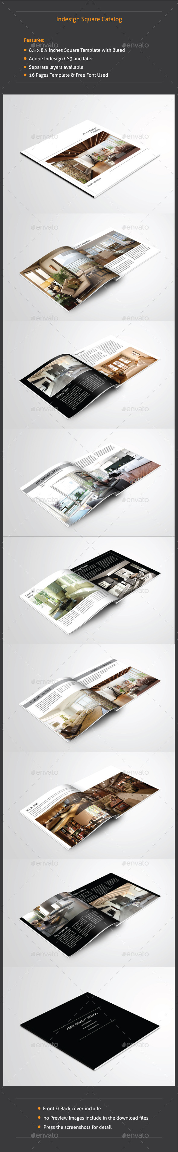 GraphicRiver Indesign Square Catalog 9232185