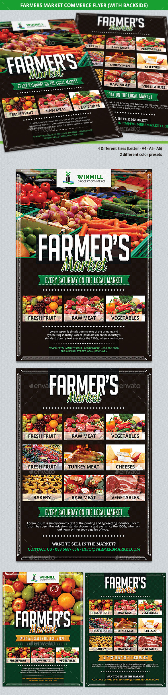 GraphicRiver Farmer s Market Commerce Flyer 9232638