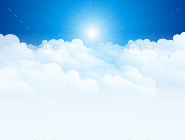 GraphicRiver Blue Sky Background 9234348