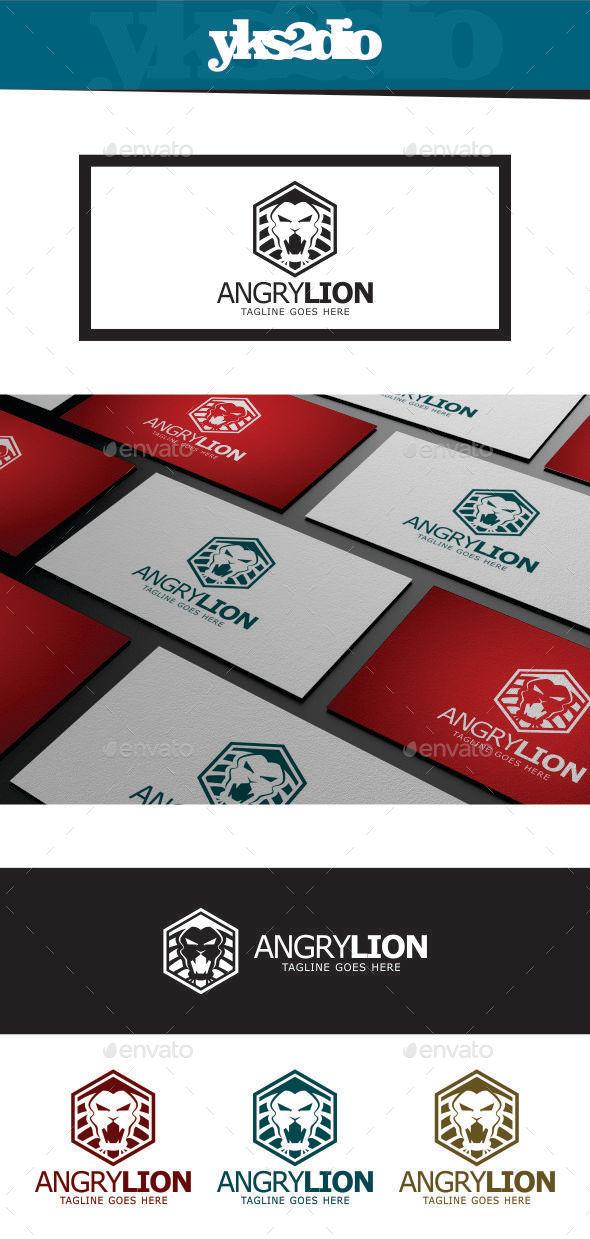 GraphicRiver Angry Lion Logo 9234492