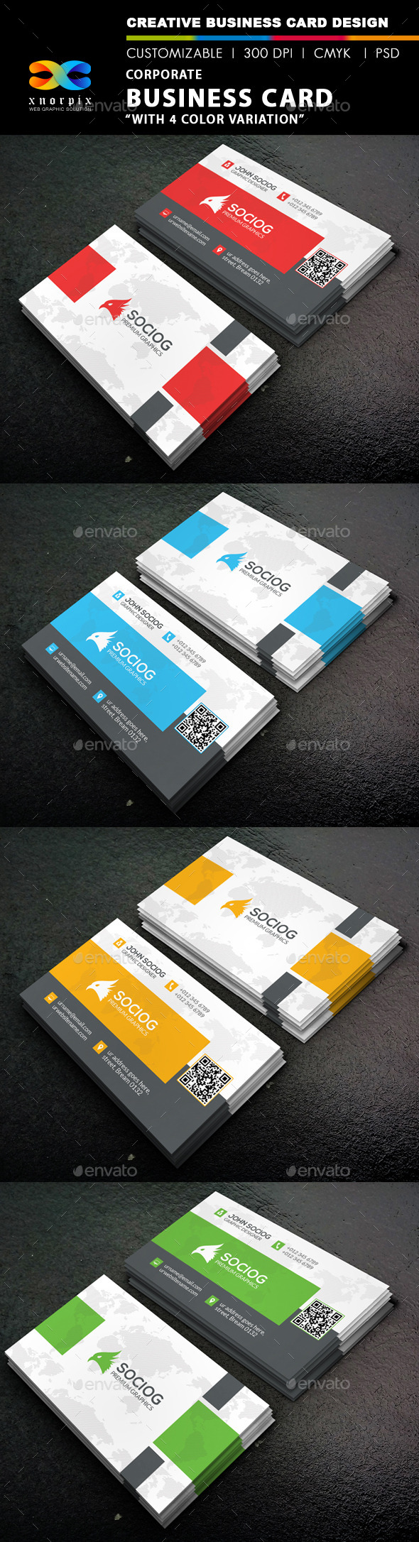 GraphicRiver Corporate Business Card 9234511