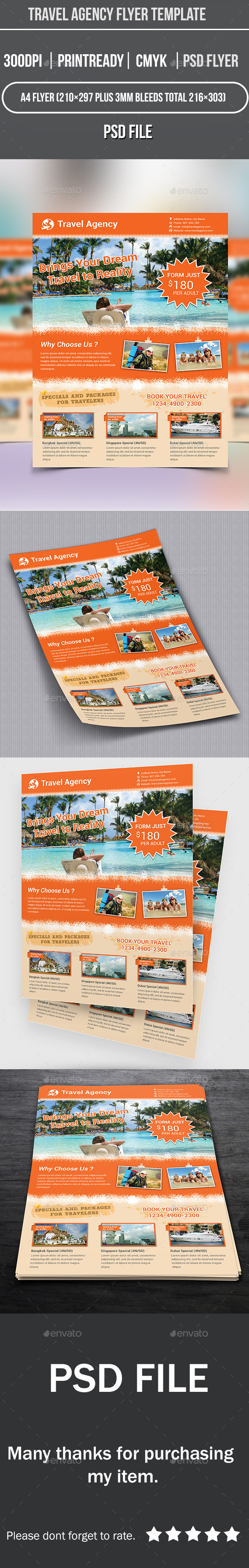 GraphicRiver Travel Agency Flyer Template 9199307