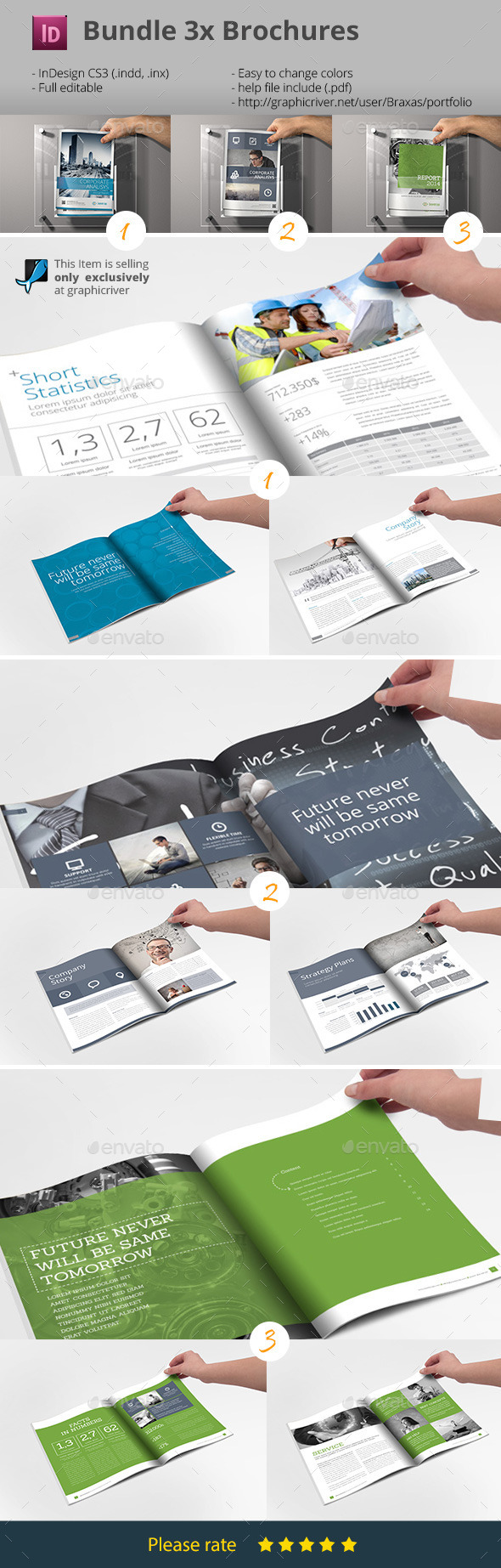 GraphicRiver Business Brochure Bundle InDesign Templates 9234544