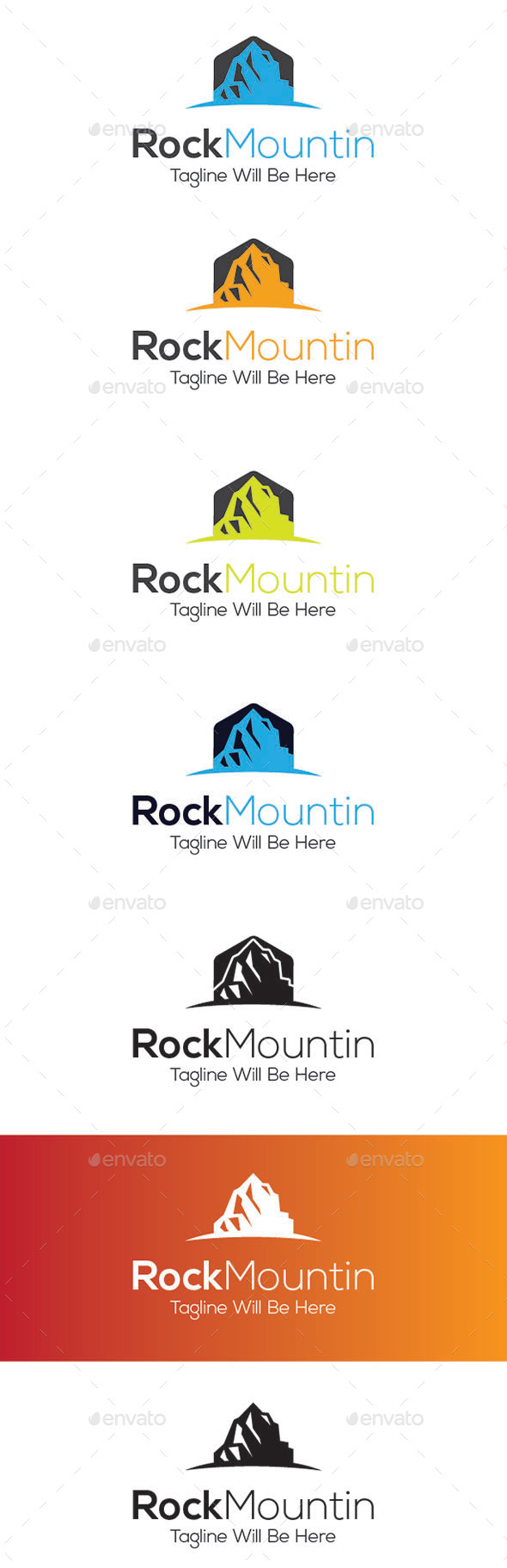 GraphicRiver Rock Mountin Logo Design 9234566