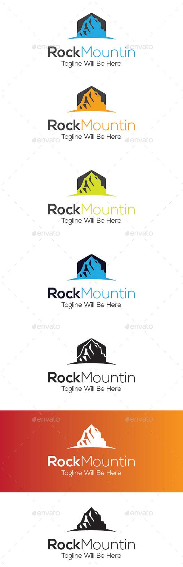GraphicRiver Rock Mountin Logo Design 9234566
