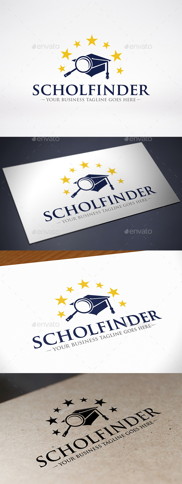 GraphicRiver University Finder Logo Template 9234577